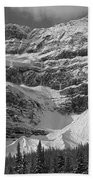 1m3536-bw-north Side Crowfoot Mountain  Beach Towel