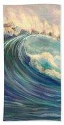 North Whore Wave Beach Towel
