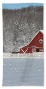 Northern Michigan Country Winter Beach Towel