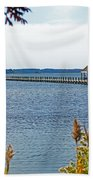 Northside Park Fishing Pier Beach Towel