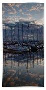 Northwest Marina Sunset Sunstar Beach Towel