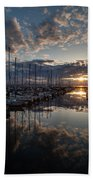 Northwest Sunset Marina Beach Towel