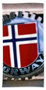 Norway Car Emblem Beach Towel