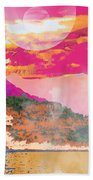 Space Landscape Beach Towel