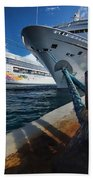 Norwegian Sky Carnival Sensation And Royal Caribbean Majesty Beach Towel