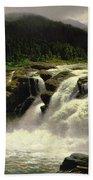 Norwegian Waterfall Beach Towel