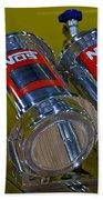 Nos Bottles In A Racing Truck Trunk Beach Towel
