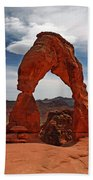 Not The Usual Delicate Arch View Beach Towel