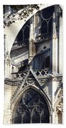 Notre Dame Cathedral Architectural Details Beach Towel