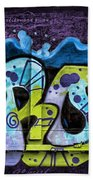 Nouveau Graffiti Beach Towel