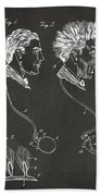 Novelty Wig Patent Artwork Gray Beach Towel
