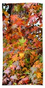 November's Maples Beach Towel