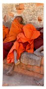 Novice Buddhist Monks Beach Towel