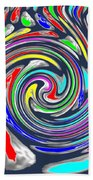 Novino Signature Art Walking Fine Lines Twirl Background Designs  And Color Tones N Color Shades Ava Beach Towel