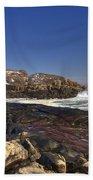 Nubble Light  Beach Towel by Joann Vitali