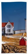 Nubble Lighthouse 3 Beach Towel