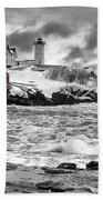 Nubble Lighthouse After The Storm Beach Towel