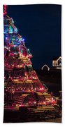 Nubble Lighthouse And Lobster Pot Tree Beach Towel