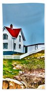Nubble Lighthouse Cape Neddick Maine 2 Beach Towel