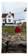 Nubble Lighthouse Cape Neddick Maine 4 Beach Towel