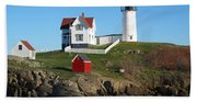 Nubble Lighthouse One Beach Towel