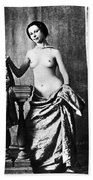 Nude And Curtains, C1850 Beach Towel