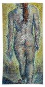Nude Brunet Beach Towel
