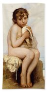 Nude Child With Dove Beach Towel