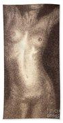 Nude Female Torso Drawings 5 Beach Towel