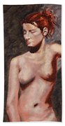 Nude French Woman Beach Towel