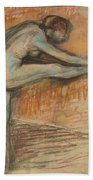 Nude Study For A Dancer At The Bar Beach Towel