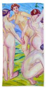 Nudes Dancing In A Ring Beach Towel