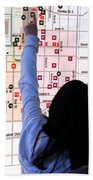 Nuit Blanche Map Beach Towel
