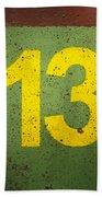 Number 13 Beach Towel