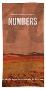 Numbers Books Of The Bible Series Old Testament Minimal Poster Art Number 4 Beach Towel by Design Turnpike