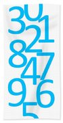 Numbers In Blue Beach Towel