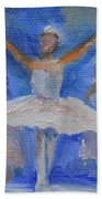 Nutcracker Ballet Beach Towel by Donna Tuten