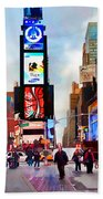 Ny Times Square Impressions IIi Beach Towel