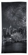 Nyc Celebrate Fleet Week Bw Beach Towel