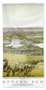 Nyc Central Park, C1859 Beach Towel