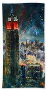 Nyc In Fourth Of July Independence Day Beach Towel