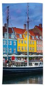 Nyhavn Canal Beach Towel