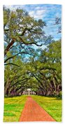 Oak Alley 3 Oil Beach Towel