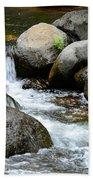 Oak Creek Water And Rocks Beach Towel