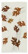 Oak Leaves Art Beach Towel