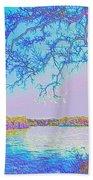 Oak On The Sacramento River - Pastel Beach Towel
