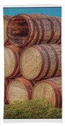 Oak Wine Barrels Beach Towel