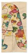 Oakland Athletics Logo Vintage Beach Towel