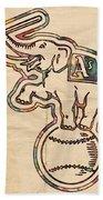 Oakland Athletics Poster Art Beach Towel