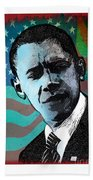 Obama-3 Beach Towel